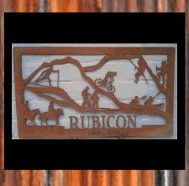 This sign was commissioned for an employee's leaving present made from 2mm mild steel. $340