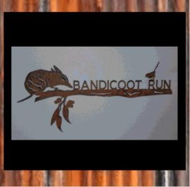 Bandicoot - Rust finish 2mm mild steel $190