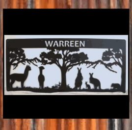Warreen - 1800mm x 840mm x 2mm mild steel painted satin black $550