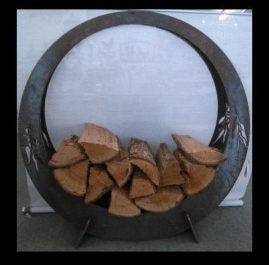 Fire wood holder. Raw 6mm mild steel. $750