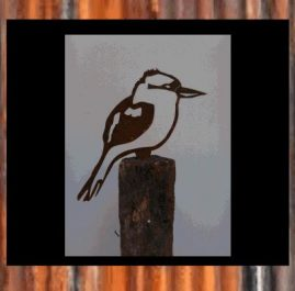Kookaburra on spike. Rust $28