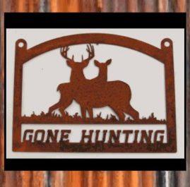 Gone Hunting, raw/rush finish. $100