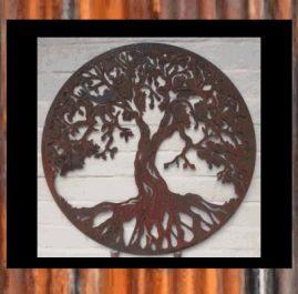 Tree of Life. 1200mm diameter x 2mm mild steel $380.00 600mm diameter x 2mm mild steel $190.00