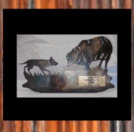 Sheep Dog Trials. Golden patina. Prices start at $60