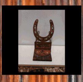 Horse shoe Trophy, rustic. $60.