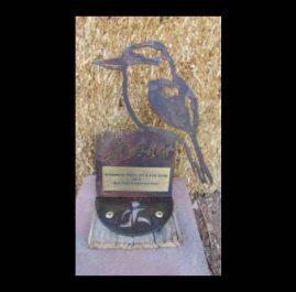 Kookaburra Trophy, rustic. $60.