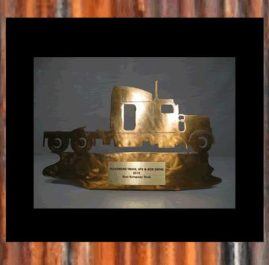 Truck Trophy. Golden patina. Prices start at $60